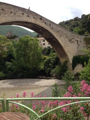 The old Roman bridge in Nyons