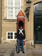 A Royal Life Guard in front of Amalienborg Castle