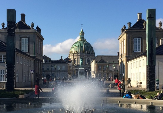 Amalienborg Castle and the Marble Church (Frederik's Church)