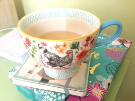 A favorite cup of tea and a book - one of my favorite ways of relaxing!